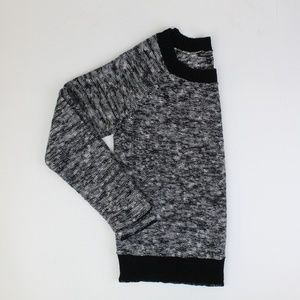 Eileen Fisher Black & White Long Sleeve Sweater